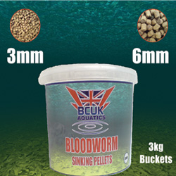 Bloodworm Sinking Pellet 3kg 3mm