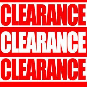 CLEARANCE! SALE ITEMS!